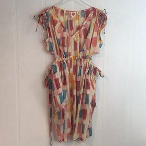 Anthropologie Linka Painters palette dress Sz XSm